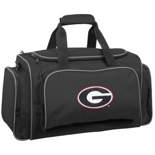 WallyBags Georgia Bulldogs Black Polyester 21-inch Collegiate Duffel Bag