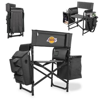 Picnic Time Los Angeles Lakers Grey, Black Aluminum, Polyester, Rubber Fusion Portable Outdoor Chair