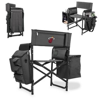 Picnic Time Miami Heat Fusion Grey/Black Folding Chair