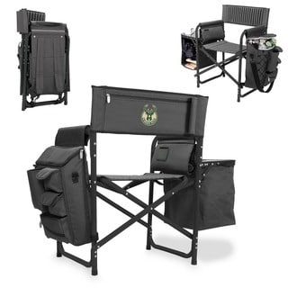 Picnic Time Milwaukee Bucks Picnic Time Grey/Black Polyester, Alumnium, and Rubber Fusion Chair
