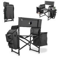 Picnic Time Grey/Black Minnesota Timberwolves Fusion Chair