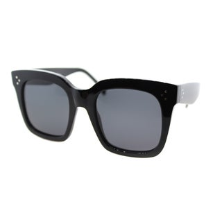 Celine Tilda CL 41076 /S 807 Women's Black Plastic Square Sunglasses Grey Lens