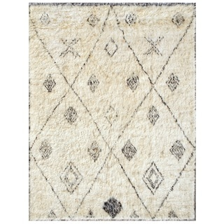 Pasargad Moroccan Ivory Pure Wool Rug (8' x 10')