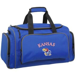 WallyBags Kansas Jayhawks Royal Blue Polyester 21-inch Collegiate Duffel Bag