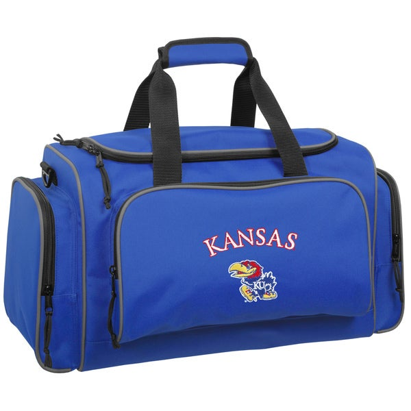 eced7636ddff Shop WallyBags Kansas Jayhawks Royal Blue Polyester 21-inch Collegiate  Duffel Bag - Free Shipping Today - Overstock.com - 11963810