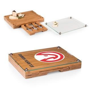 Picnic Time Atlanta Hawks Concerto Bamboo Cutting Board/Tray and Cheese Tools Set