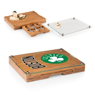 Picnic Time Boston Celtics Concerto Bamboo Cutting Board/Tray and Cheese Tools Set