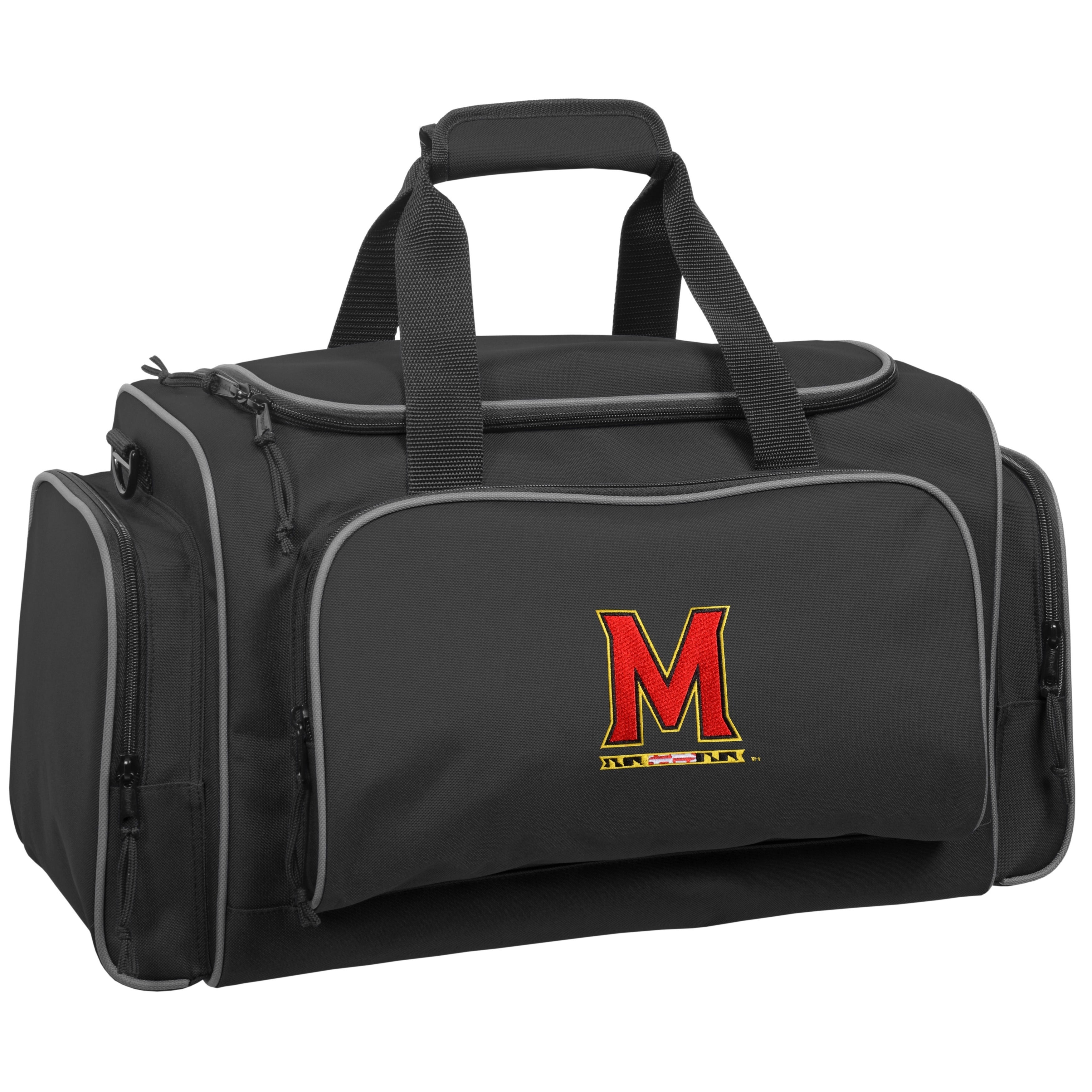 b4a07762582f Details about Wally Bags Maryland Terrapins Black Polyester 21-inch  Collegiate Duffel Bag