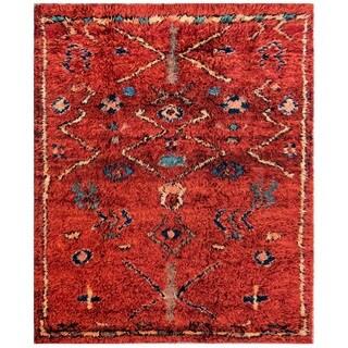 Pasargad Moroccan Rust Wool Rug (6' x 7')