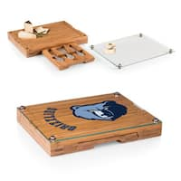 Picnic Time Memphis Grizzlies Concerto Bamboo/Stainless Steel/Glass Cutting Board/Tray and Cheese Tools Set