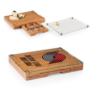 Picnic Time Portland Trailblazers Concerto Bamboo Cutting Board/Tray and Cheese Tools Set