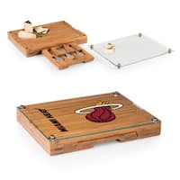 Picnic Time Concerto Miami Heat Bamboo Cutting Board/Tray and Cheese Tools Set