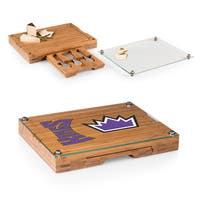 Picnic Time Sacramento Kings Concerto Bamboo Cutting Board/Tray and Cheese Tools Set