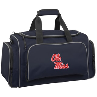 WallyBags Ole Miss Rebels Collegiate Blue Polyester 21-inch Multi-Compartment Duffel Bag