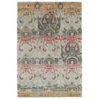 Hand-Tufted Wool & Viscose Anastasia Multi Ikat Rug - 8' x 11'