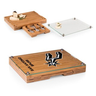 Picnic Time San Antonio Spurs Concerto Bamboo Cutting Board/Tray and Cheese Tools Set