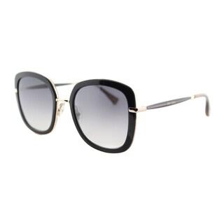 Jimmy Choo Women's JC Glenn QEB Black Horn Plastic Square Sunglasses with Grey Gradient Lens