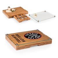 Picnic Time Toronto Raptors Concerto Bamboo Cutting Board, Tray and Cheese Tools Set