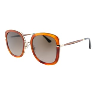 Jimmy Choo JC Glenn QAN Light Women's Havana Glitter Plastic Square Sunglasses with Brown Gradient Lens