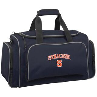 WallyBags Syracuse Orange Navy Polyester 21-inch Collegiate Duffel Bag