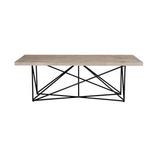 Ernest Black Finish Pine/Steel/Wood Dining Table - Grey