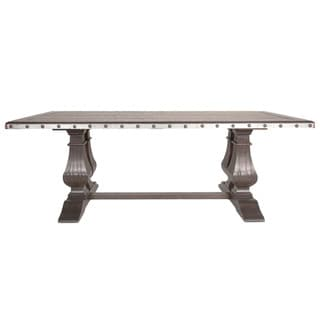 Leslie Espresso Wood and Pine Rectangular Dining Table