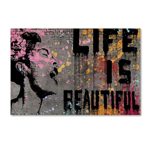 Shop Banksy \'Life is Beautiful\' Canvas Wall Art - Free Shipping ...