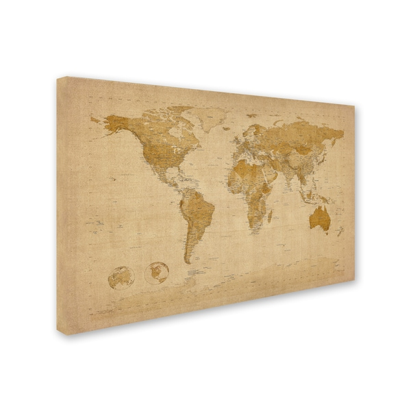 Michael tompsett antique world map canvas wall art free michael tompsett antique world map canvas wall art free shipping today overstock 18848966 gumiabroncs Images