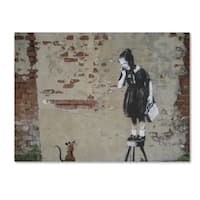 Banksy 'Ratgirl' Canvas Wall Art