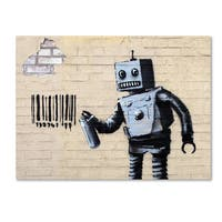 Banksy 'Robot' Canvas Wall Art