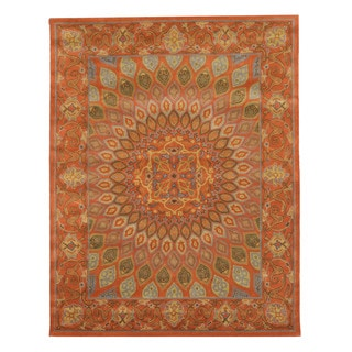 EORC Gombad Rust Wool Hand-tufted Rug (5' x 8')