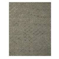 Handwoven Wool & Viscose Gray Transitional Trellis Marakesh Trellis Rug - 9' x 12'