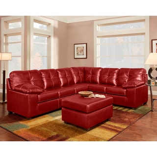sofa trendz redbrown bonded leather sectional