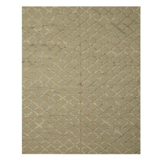 Handwoven Wool & Viscose Camel Transitional Trellis Marakesh Trellis Rug (10' x 14')