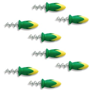 Tovolo Twist-lock Green Stainless Steel Corn Holders (Pack of 8)