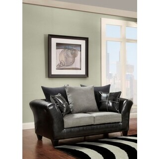 Sofa Trendz Microfiber Faux Leather Loveseat