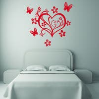 Style and Apply Valentine Heart Vinyl Wall Art