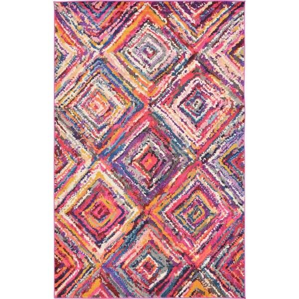Barcelona Multicolor Synthetic Rug (5'1 x 8')