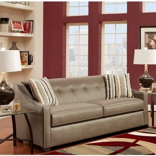 Sofa Trendz Bonita Pewter/ Beige Polyester Blend Sofa