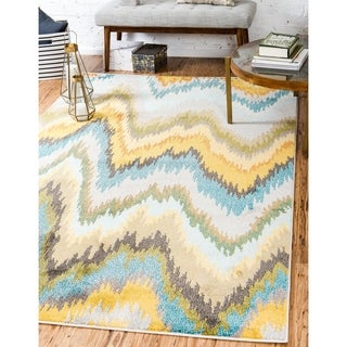Barcelona Multi-color Polypropylene Abstract Rug (5' 1 x 8' )