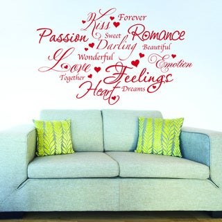 Style & Apply Love Romance Vinyl Wall Decal, Sticker Art Home Decor Quotes and Sayings