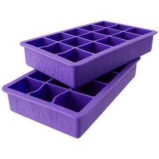 Tovolo Perfect Cube Vivid Violet Silicone Ice Trays (Set of 2)