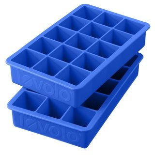 Tovolo Capri Blue Perfect Cube Ice Trays (Set of 2)