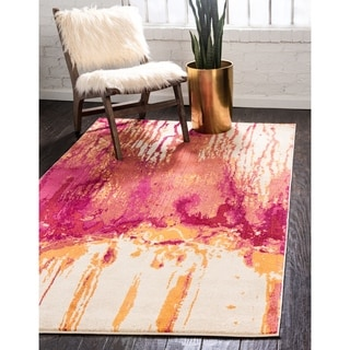 Barcelona Multi-colored Polypropylene Rug (5'1 x 8')