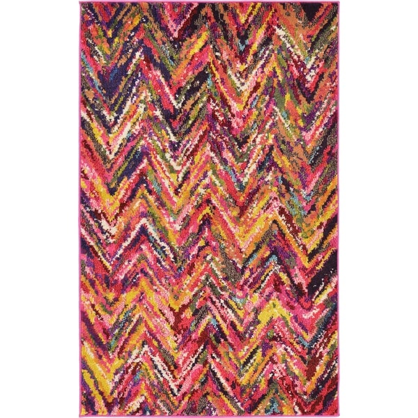 Barcelona Multicolor Polypropylene Rug (3'2 x 5'2)