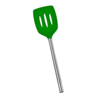 Tovolo Lime Green Silicone Slotted Turner