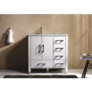 KubeBath Anziano 36-inch Single Sink Bathroom Vanity