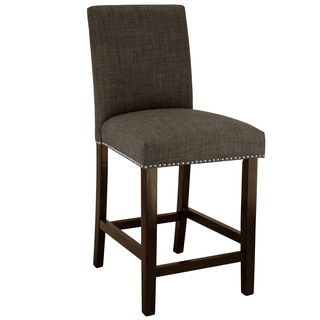 Skyline Furniture Marlow Asphalt Nail Button Counter Stool