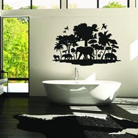 Style and Apply Jungle Vinyl Wall Decal and Sticker Mural Art Home Decor