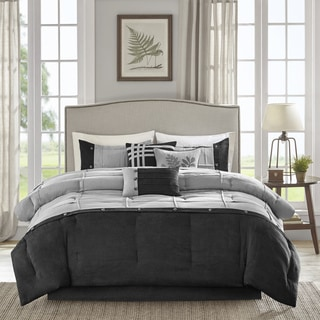 Madison Park Calvert Grey 7-piece Comforter Set